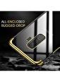 Microsonic Samsung Galaxy S9 Plus Kılıf Skyfall Transparent Clear  Altın